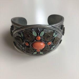 Vintage Cuff Bracelet in Jewel